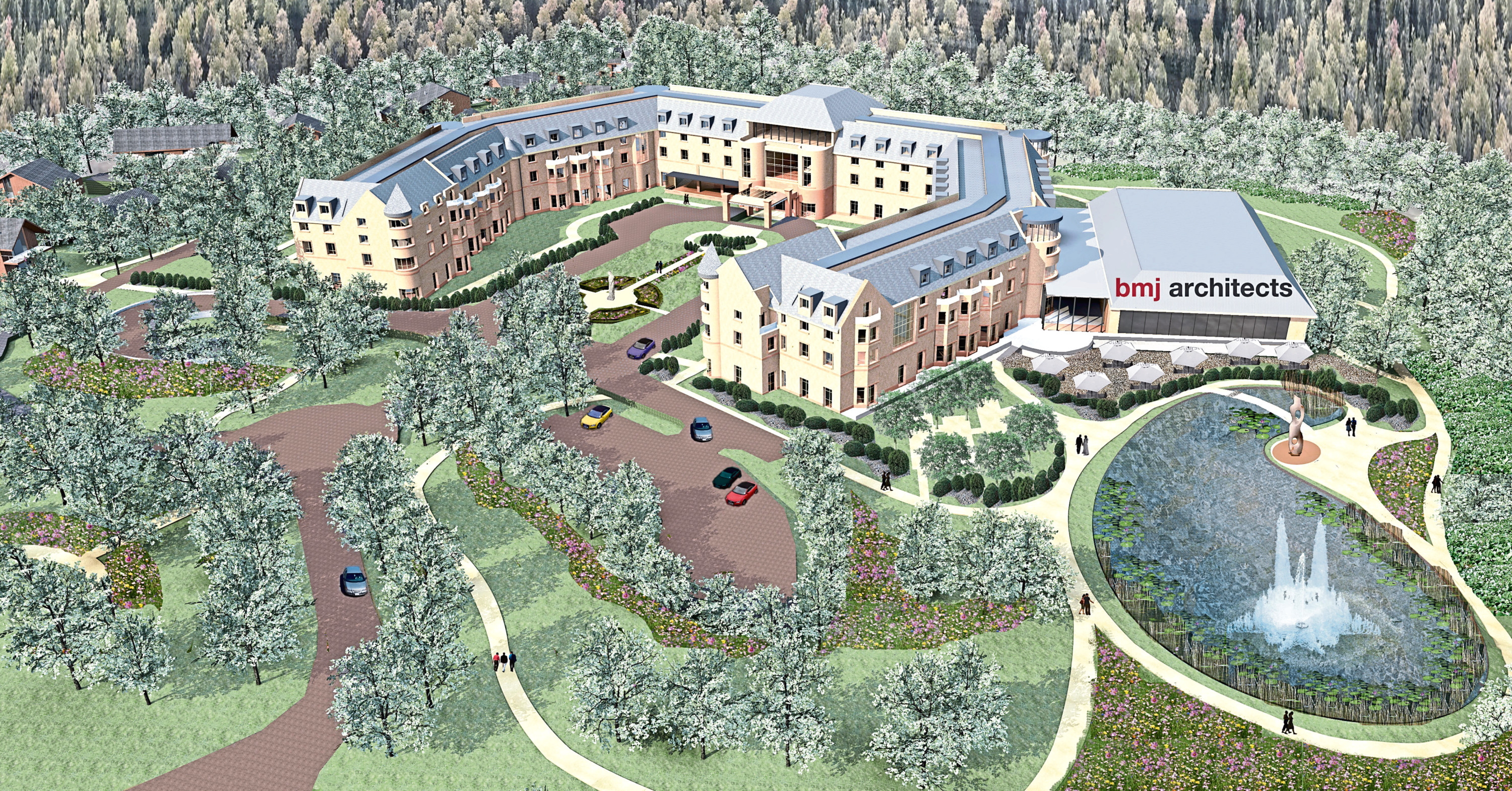 An artist's impression of the five-star Carlton Rock leisure hotel and country club development planned for Hazlehead in Aberdeen.
