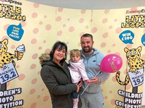 Nicole McGregor and Shaun Hanratty with daughter Natalia Hanratty