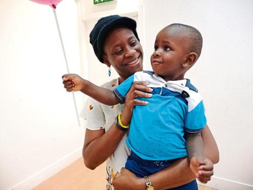 Temoitope Jagun and son Elyon