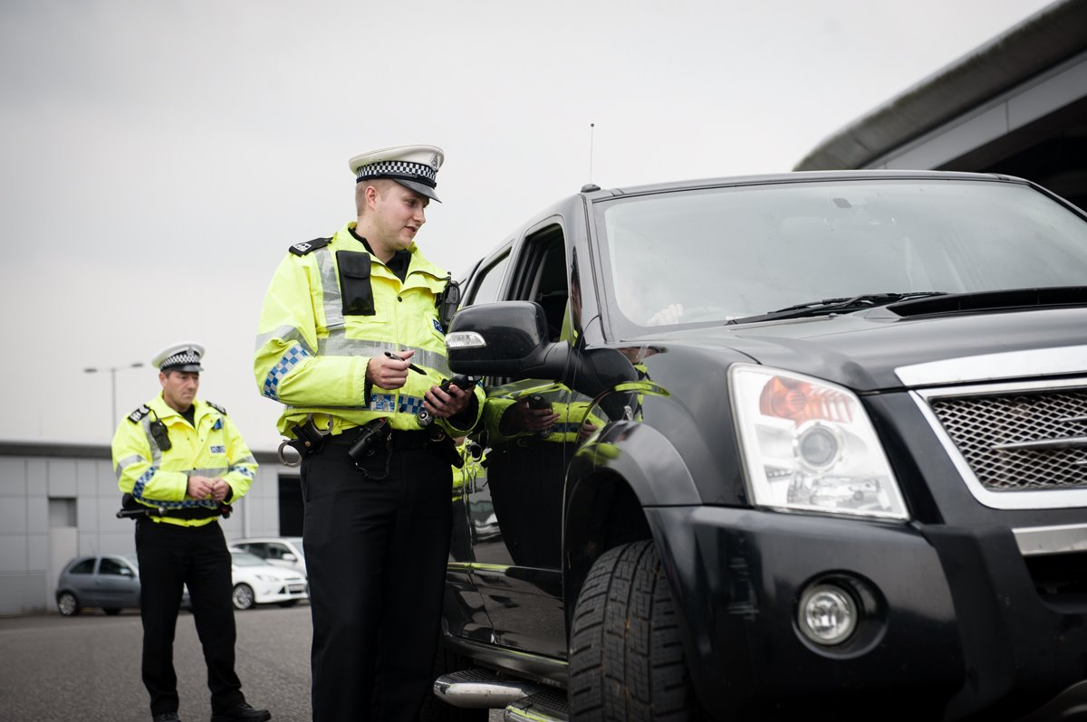 Officers carried out the checks at supermarkets in the Inverurie area