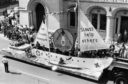 1983: The Aberdeen Scout Group's yacht on Union Street as part of the Festival Parade on Saturday