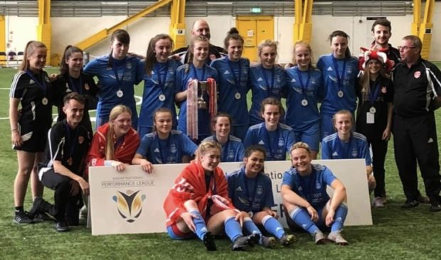 AFC Ladies U19s with their trophy.