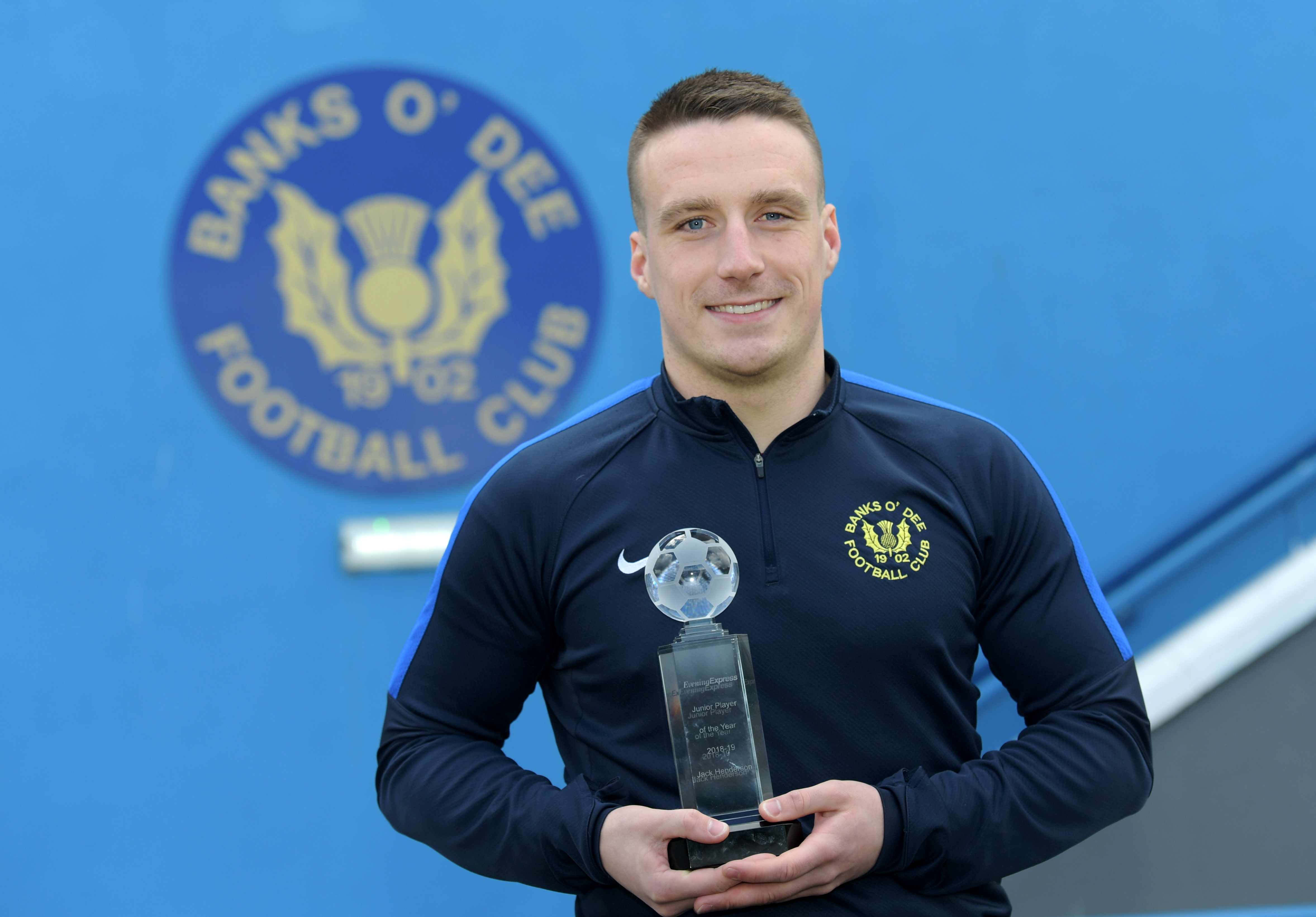 Banks o' Dee striker Jack Henderson has won the Evening Express Junior player of the Year.  Picture by Kath Flannery