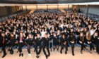 Some of the pupils ahead of last night's awards