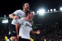 Craig Bryson celebrates a goal for Derby.