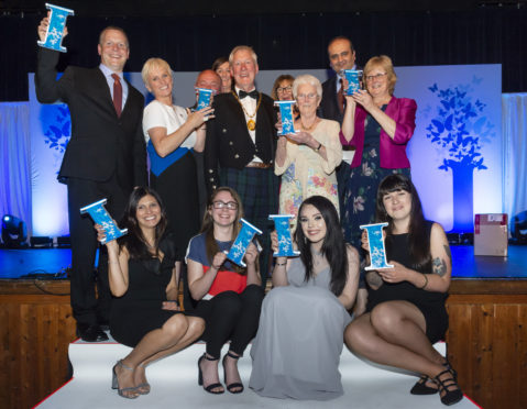 Some of the winners from the 2019 Inspiring Aberdeenshire Awards