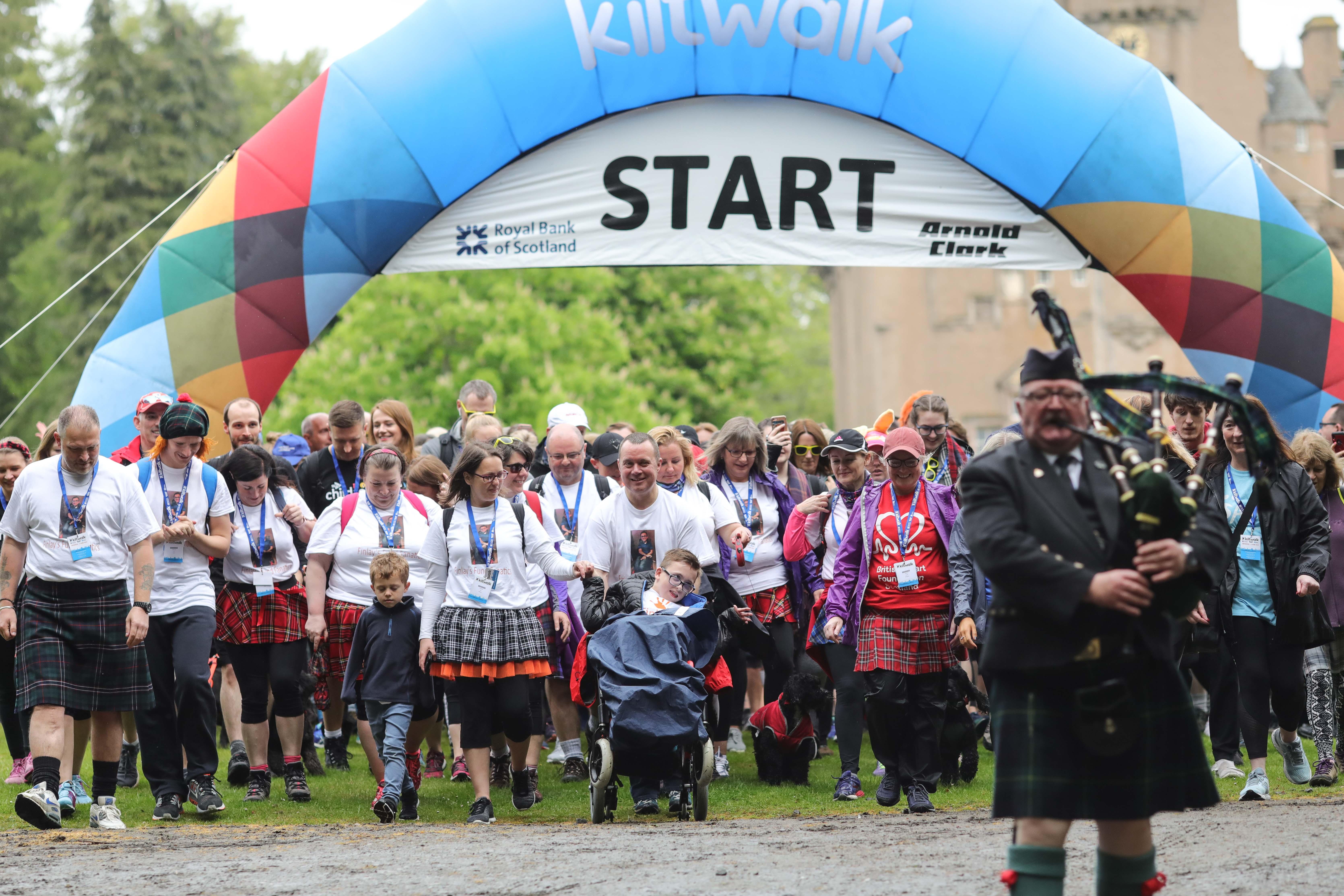 Last year's Aberdeen Kiltwalk