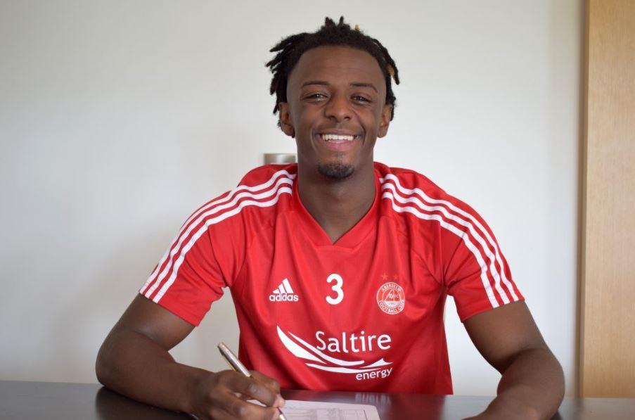 Aberdeen's new signing Greg Leigh