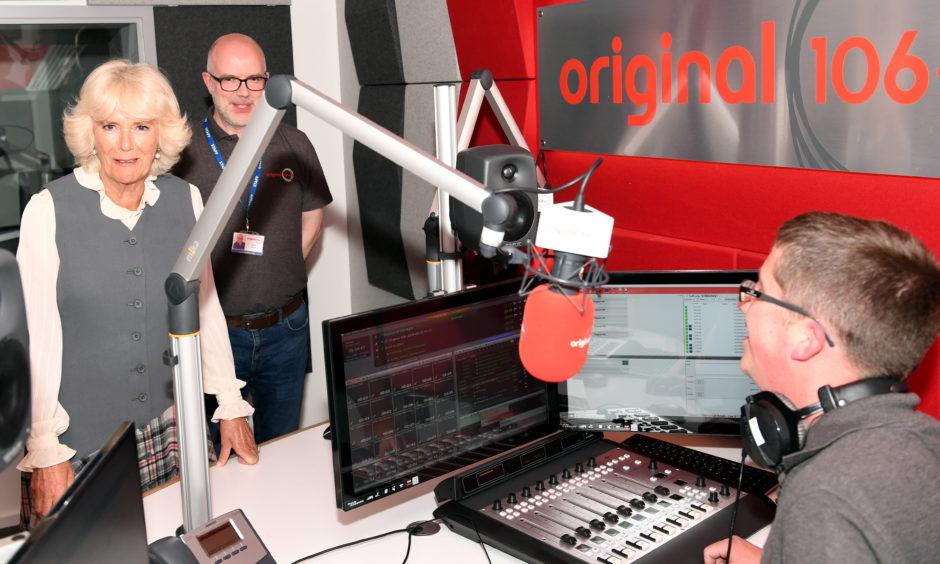 Camilla in Original 106fm's new studio with Martin Ingram