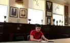 Michael Ruth signing on at Pittodrie.