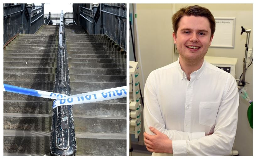 Remy Macmillan-Parks was taken to ARI after he was found at the bottom of the steps at The Green