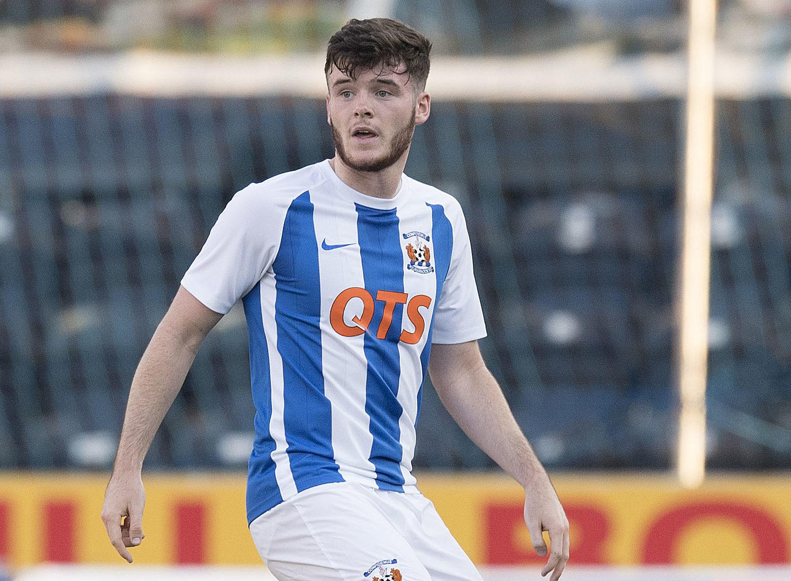 Daniel Higgins in action for Kilmarnock.