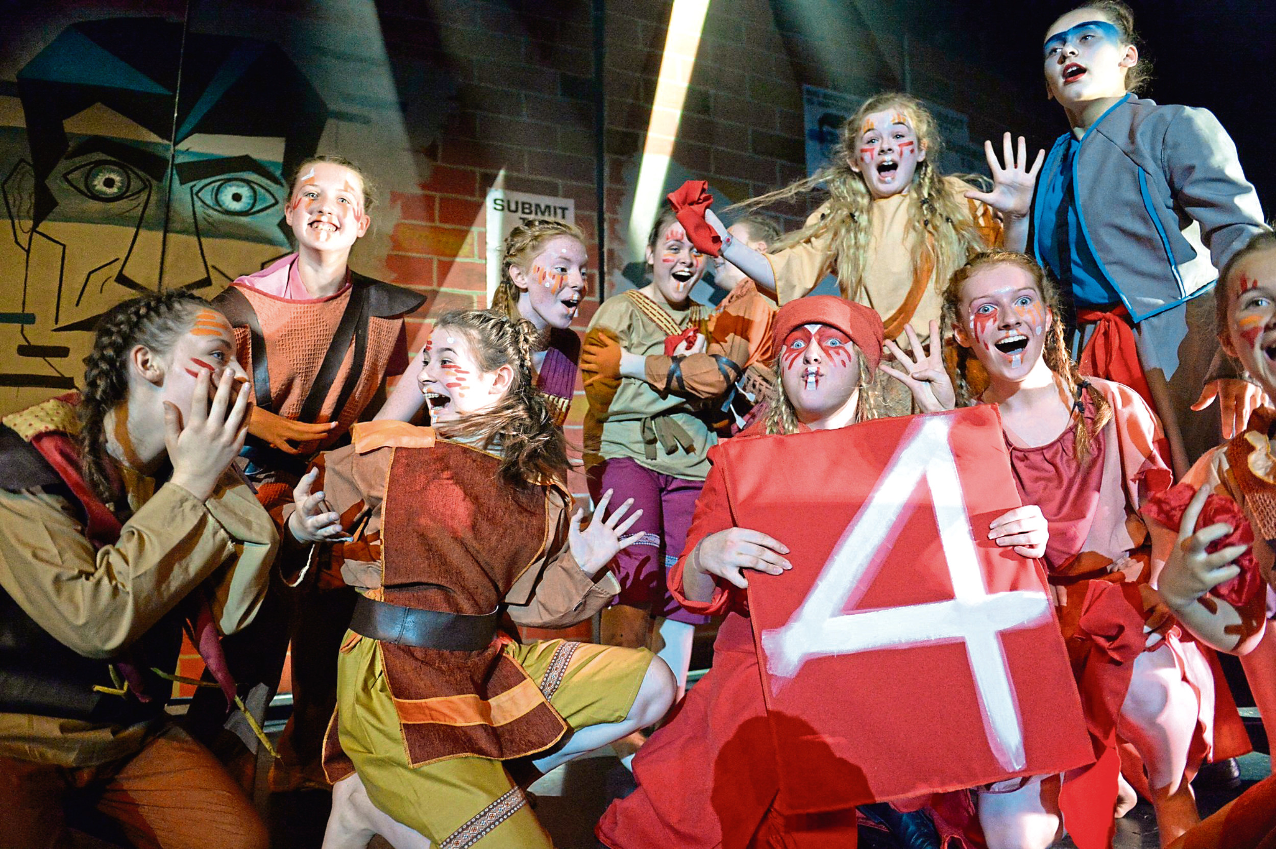 Peterhead Academy performing at this year's Rock Challenge