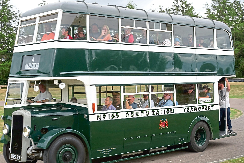 A 1942 Wartime Daimler Utility bus