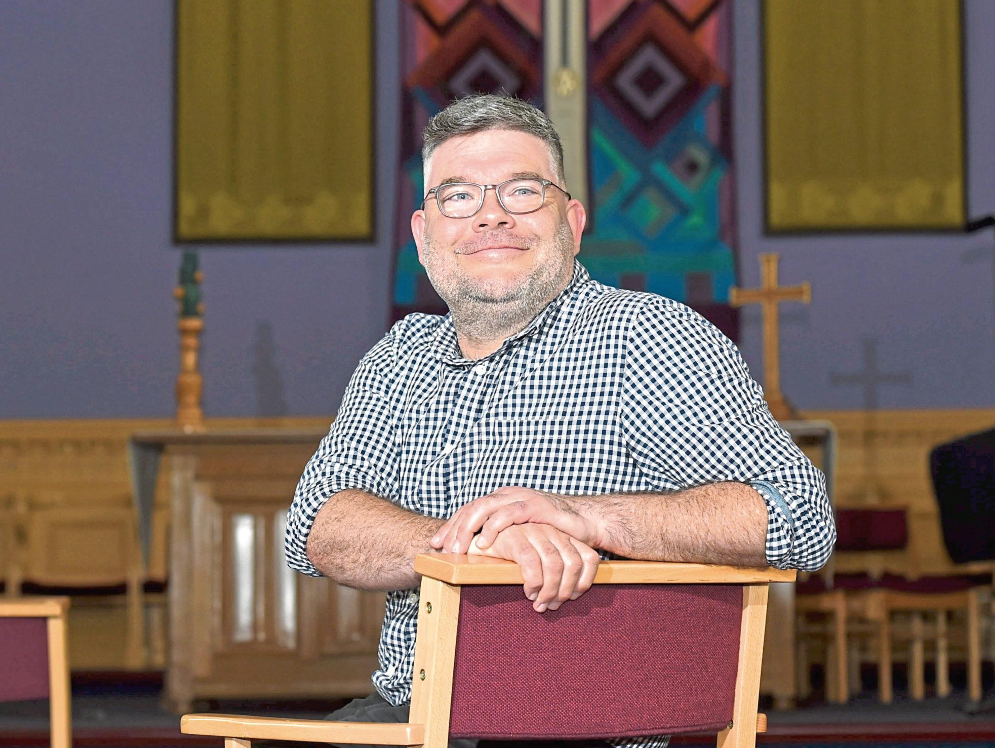 The Rev Scott Rennie at Queen's Cross Church