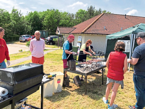 Firing up the bbq at Kingswells fun day, which may become a fixture in the calendar