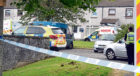 Police at the scene on Lerwick Road