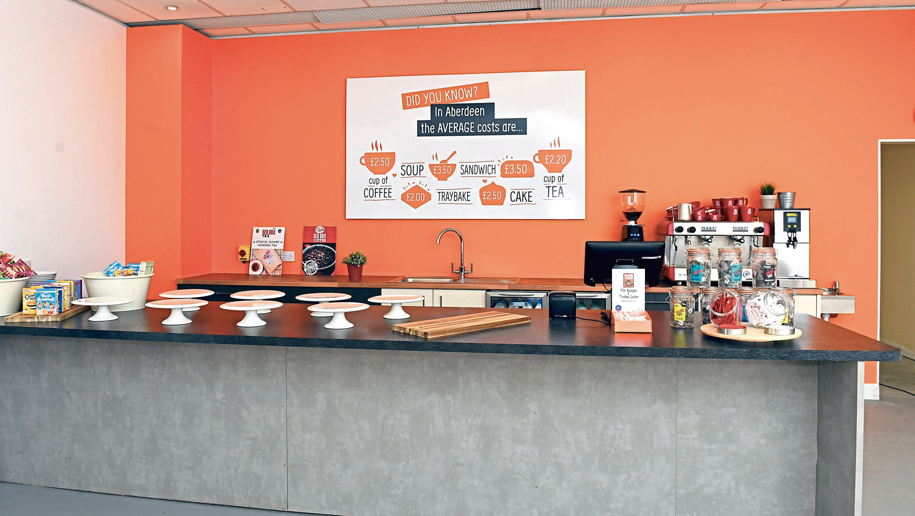 Charlie House's new ReCHarge Café in the Bon Accord Centre.