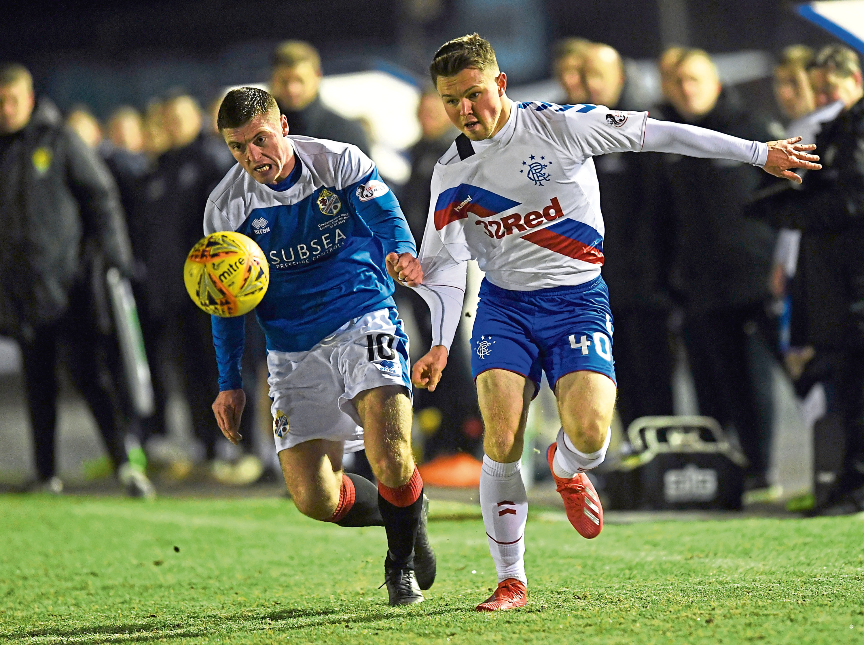 Gary Fraser, left, in action for Cowdenbeath