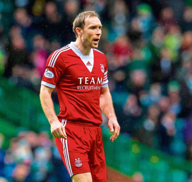 Russell Anderson in action during his time with Aberdeen