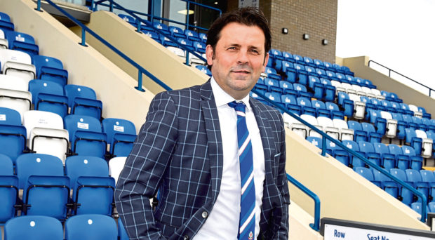 Paul Hartley at the Balmoral Stadium Picture by Jim Irvine