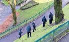 Police investigate the alleged attack in Union Terrace Gardens