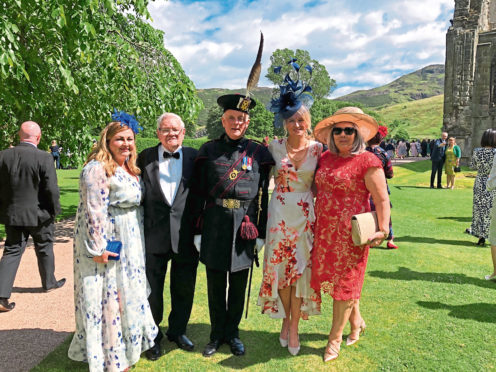 Picture from VSA of those in attendance Jackie Campbell, Donald Garden, Jennifer Mitchell and Libby Souter