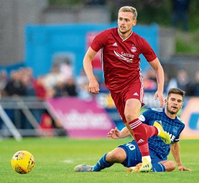 James Wilson in action for Aberdeen