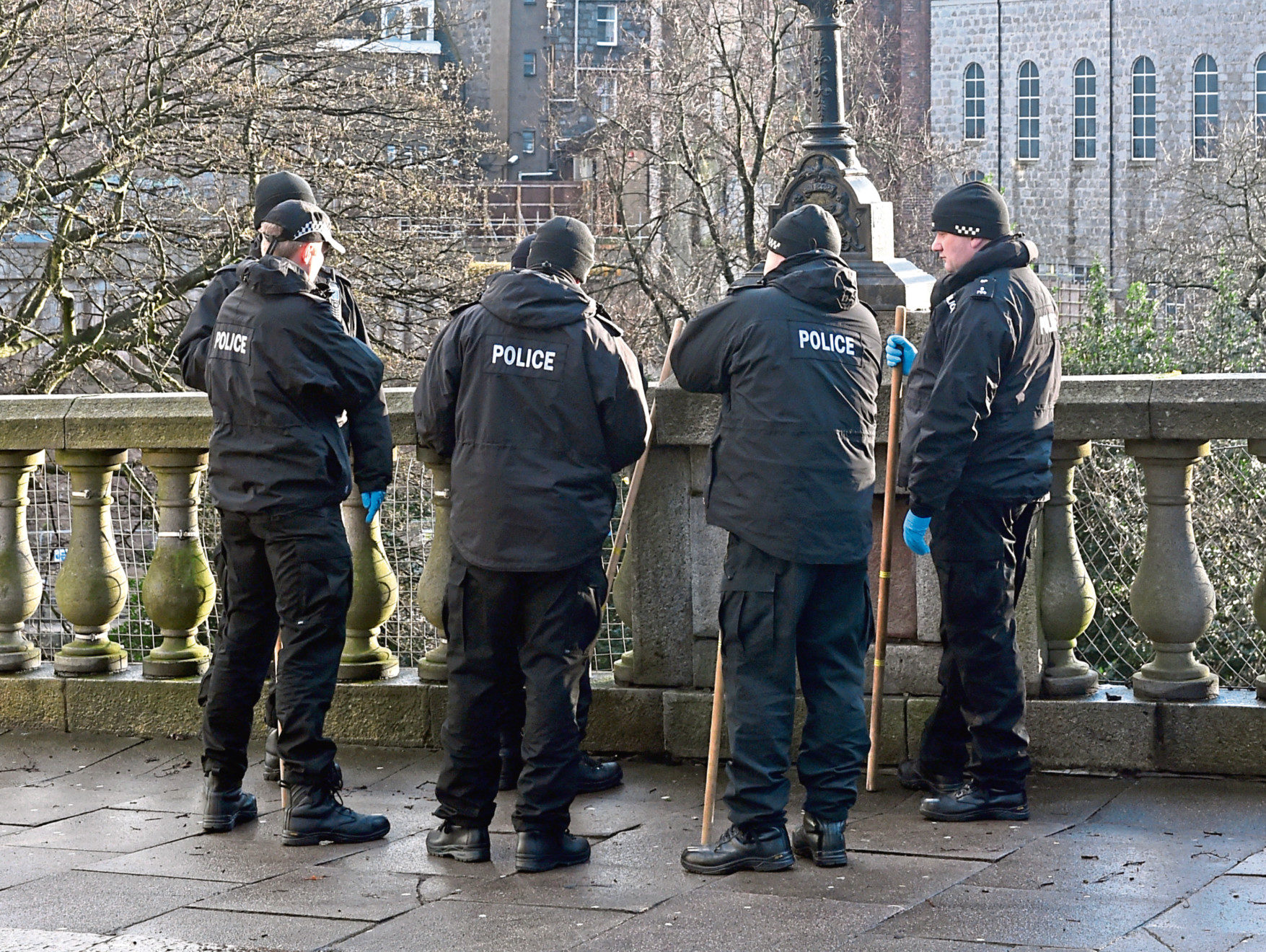 Police officers at Union Terrace Gardens