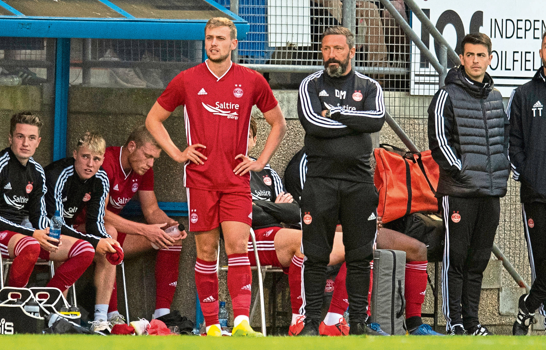 Derek McInnes sends James Wilson on against Peterhead