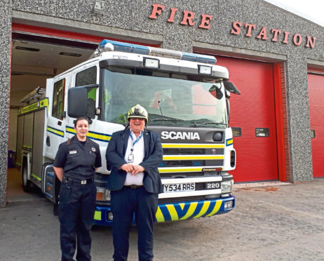 Expert teams from Scottish and Southern Electricity Networks (SSEN) held sessions at Scottish Fire and Rescue Service stations