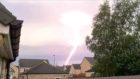 A dramatic picture of lightning over Ellon captured last month by Steve Cryle