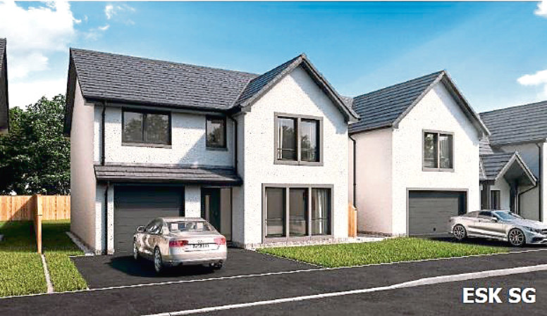 An artist impression of one of the planned properties