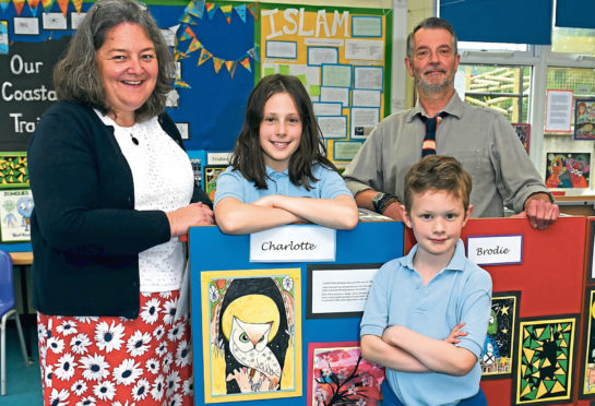 Pupils at Kennethmont School are holding an art exhibition