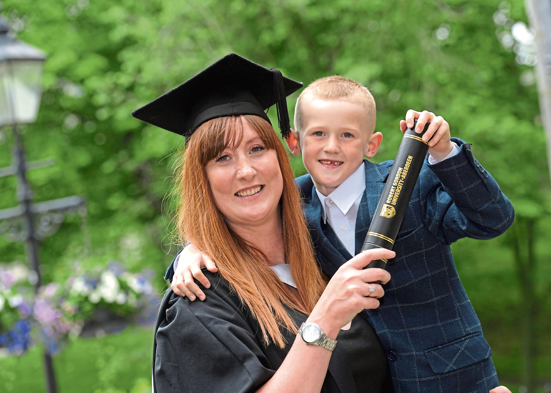 Elaine Hamilton with her son Jai Hamilton
