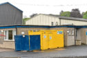 The children were seen on the roof of Ellon Primary School