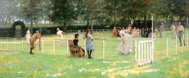 The Tennis Party, 1885, Sir John Lavery