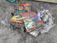 The litter was discovered by the Aberdeen City Council Countryside Ranger Service team at Donmouth