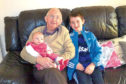 Arthur with two of his great grandchildren, Kailyn and Duncan.