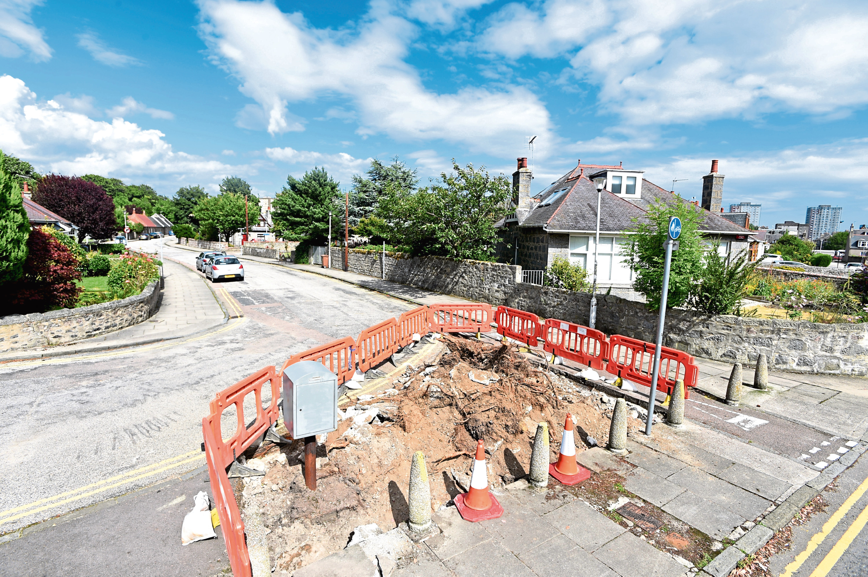 Residents in Old Aberdeen were outraged after trees and shrubs on the island between Don Street and Cheyne Road were cut down by council officers without any consultation