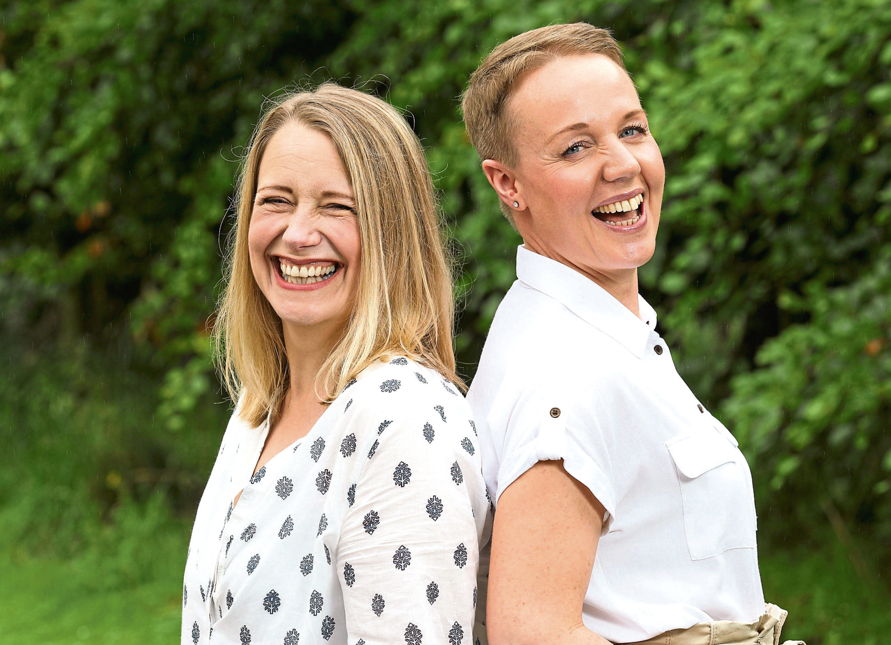 Fiona Lochhead (left) from Aberdeenshire who was helped through her cancer by lifelong friend Viv Wilson
