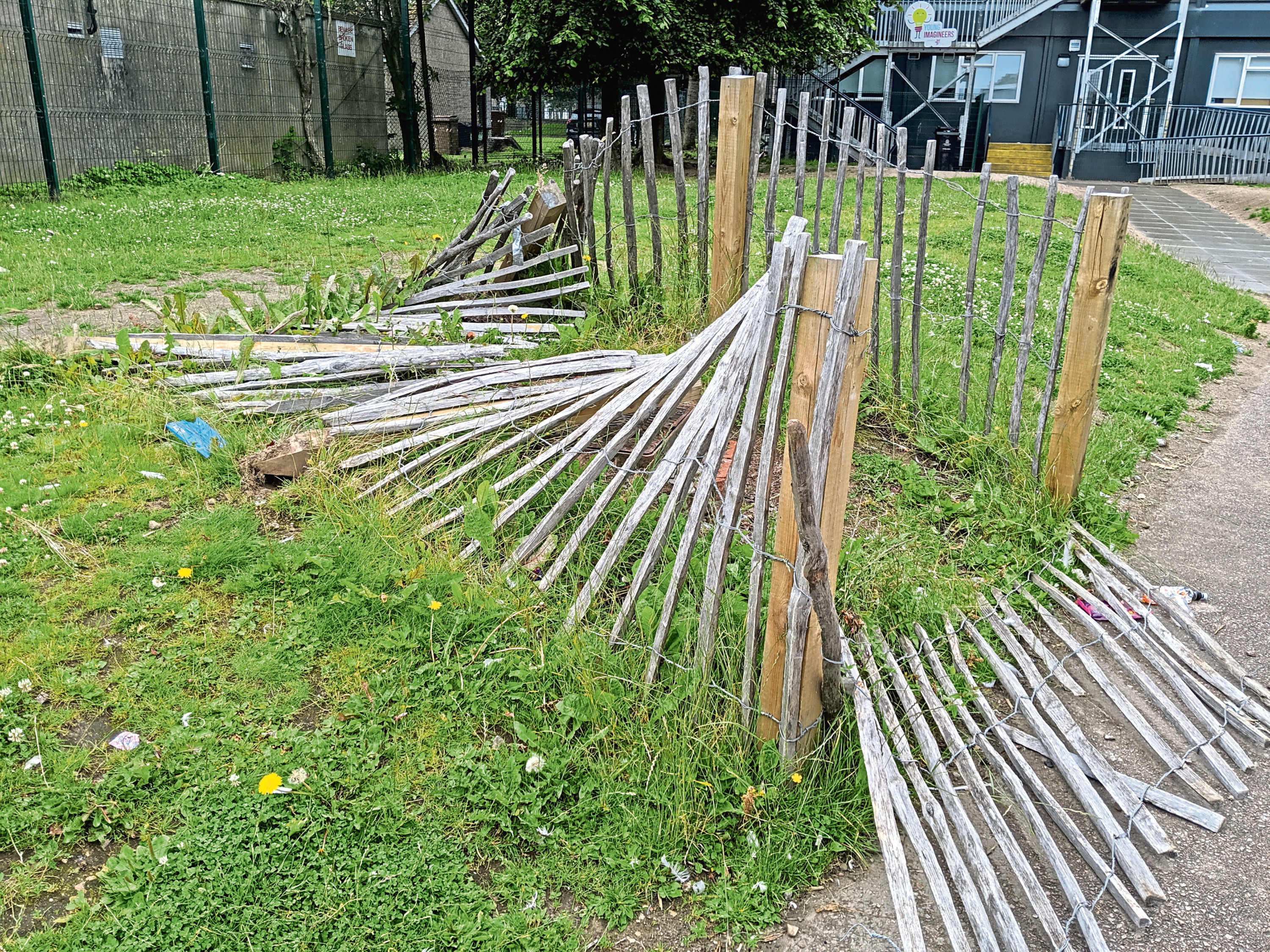 Damage done to Riverbank School and playground