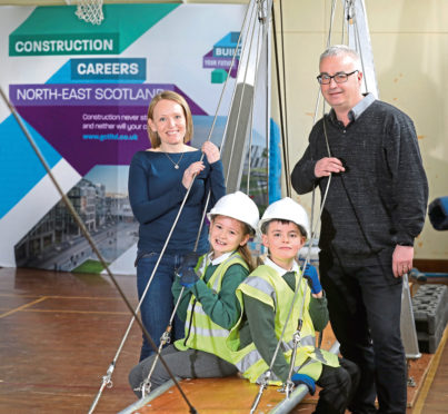 Sydney Pirie, 9, Michelle Forth from Safe Scotland, Jay Wiggins Morris ,9, and David Steel from Leiths.
