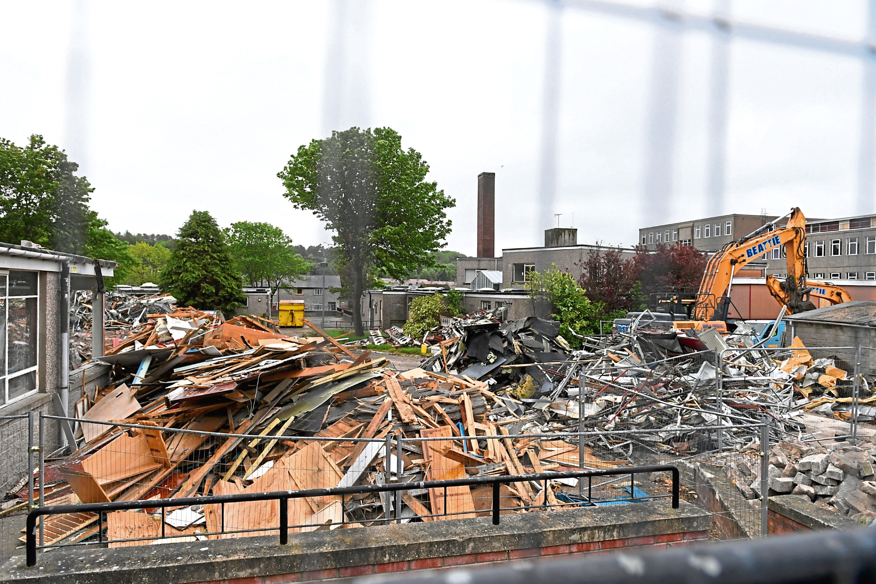 Kincorth Academy is being demolished to make way for new houses