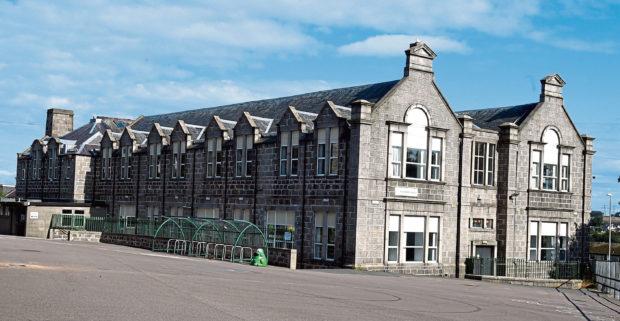 Slates have been taken off Woodside School's roof on Clifton Road, Aberdeen.