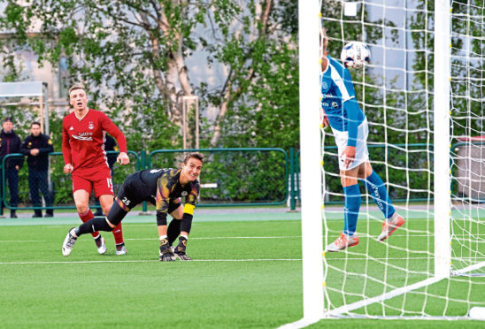 Lewis Ferguson nets with the last kick of the game to earn Aberdeen a 2-1 victory over RoPS Rovaniemi