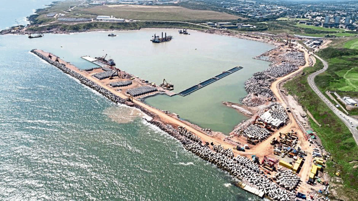 Work is under way on a £350 million expansion of the city's new port at Bay of Nigg, and the first operational quay has been created