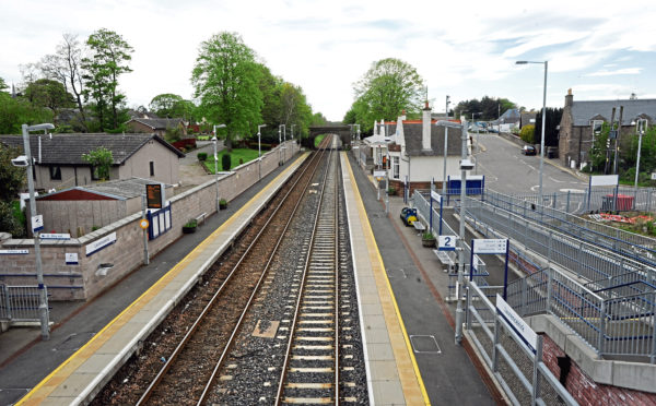 The new station at Laurencekirk was opened in 2009