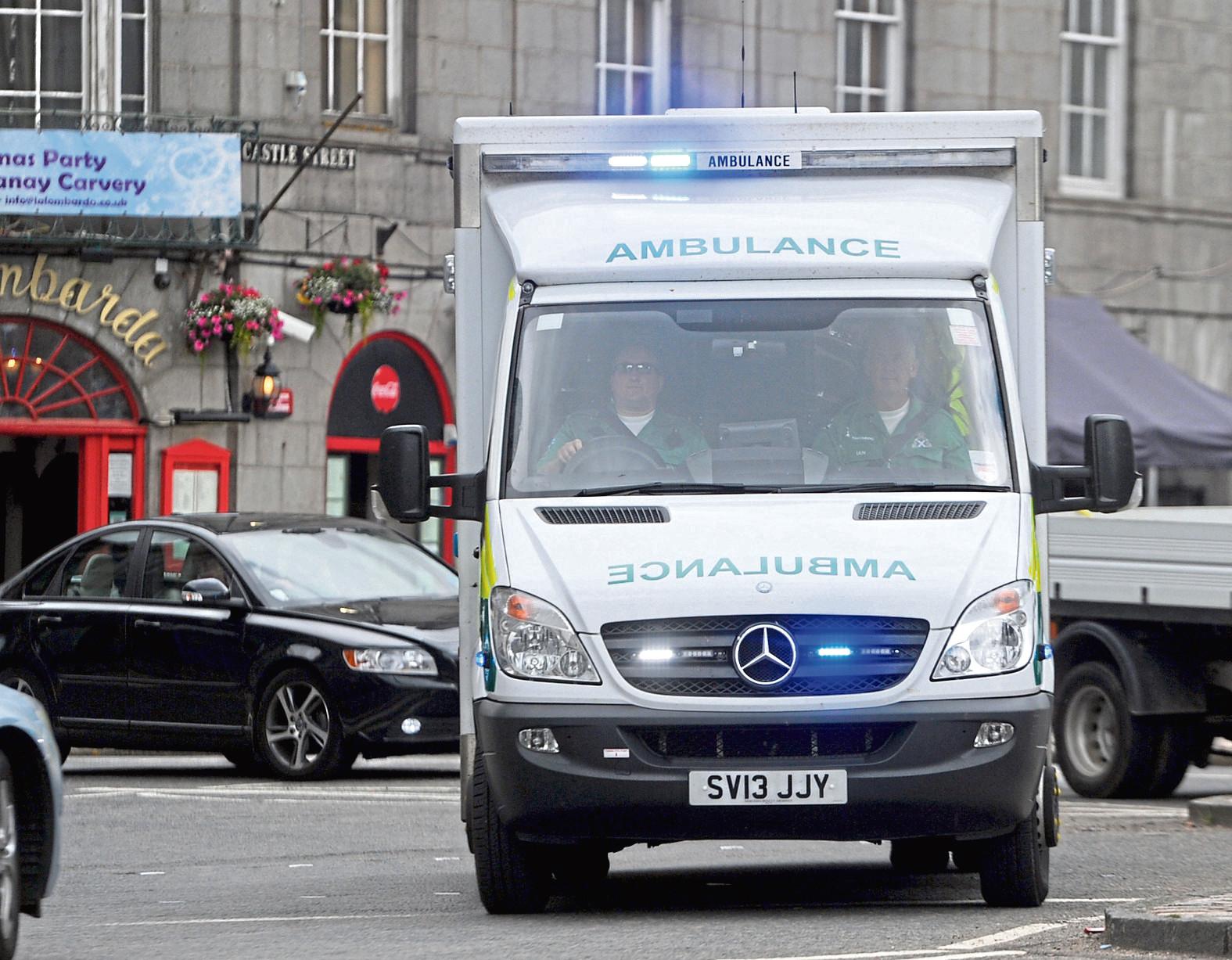 A stock image of an ambulance