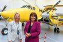 Health Secretary Jeane Freeman, right, officially opens the ScotSTAR North base alongside CEO Pauline Howie